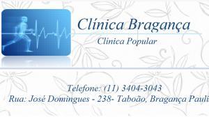 CLÍNICA BRAGANÇA - EXAMES CMA